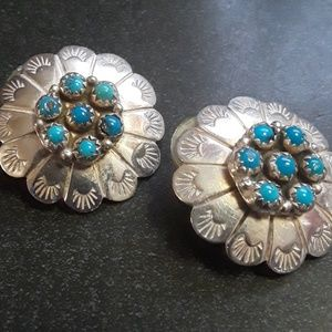 e7519723215 Silver and turquoise earrings